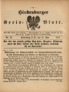 Hindenburger Kreis-Blatt, 1917, Nr. 21