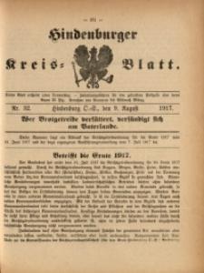 Hindenburger Kreis-Blatt, 1917, Nr. 32