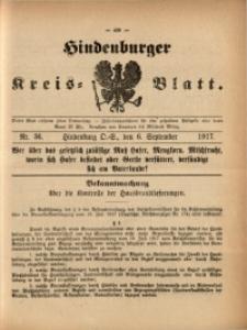 Hindenburger Kreis-Blatt, 1917, Nr. 36