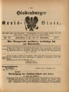 Hindenburger Kreis-Blatt, 1917, Nr. 39