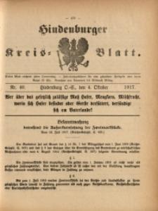 Hindenburger Kreis-Blatt, 1917, Nr. 40