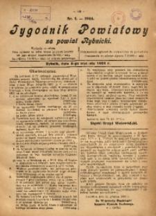 Tygodnik Powiatowy na Powiat Rybnicki, 1924, nr 1