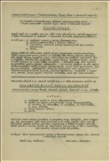 Zaproszenie i program na zjazd ostrawskiego okręgu (Żupy w Morawskiej Ostrawie) Komunistycznej Partii Czechosłowacji w dniu 18.03.1921 r.