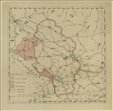 Mapa śląskich terenów plebiscytowych (Śląsk Pruski i Cieszyński) oraz ziem sąsiednich