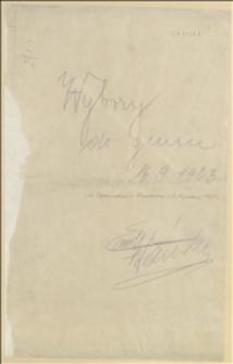 Odezwa Rady Gminnej we Frysztacie do Ślązakowców wzywająca do głosowania za programem czeskim - Frysztat, 09.1923 r.