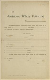Formularz zgłoszenia kandydatów do komisji wyborczej