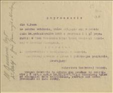 Zaproszenie na poufne zebranie w dniu 24.10.1925 r., na którym przedstawione będzie sprawozdanie z konferencji w Genewie
