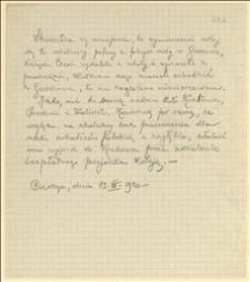 Zaświadczenie umożliwiające robotnikom polskim wyrzuconym z fabryki sody w Gruszowie na swobodny przejazd do rodzin w Galicji, Cieszyn, 13.03.1920 r.