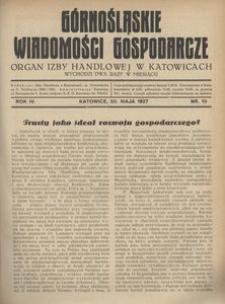Górnośląskie Wiadomości Gospodarcze, 1927, R. 4, nr 10