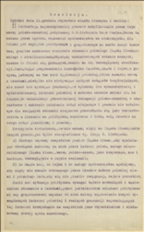 Rezolucja z 11.12.1921 r. zebranych obywateli Cieszyna i okolic