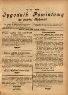 Tygodnik Powiatowy na Powiat Rybnicki, 1924, nr 10