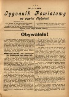 Tygodnik Powiatowy na Powiat Rybnicki, 1924, nr 11