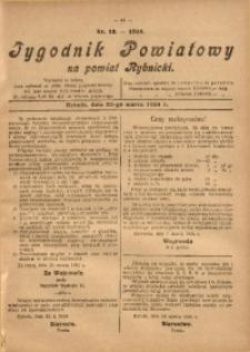 Tygodnik Powiatowy na Powiat Rybnicki, 1924, nr 12