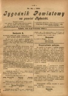 Tygodnik Powiatowy na Powiat Rybnicki, 1924, nr 14