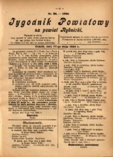 Tygodnik Powiatowy na Powiat Rybnicki, 1924, nr 20