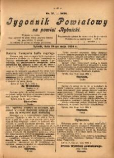 Tygodnik Powiatowy na Powiat Rybnicki, 1924, nr 21