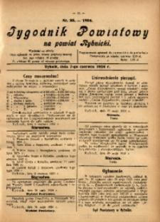 Tygodnik Powiatowy na Powiat Rybnicki, 1924, nr 23