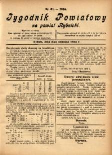 Tygodnik Powiatowy na Powiat Rybnicki, 1924, nr 31