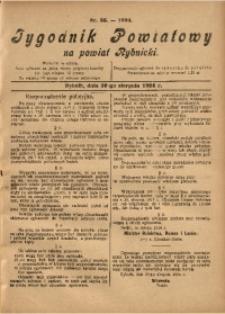 Tygodnik Powiatowy na Powiat Rybnicki, 1924, nr 35