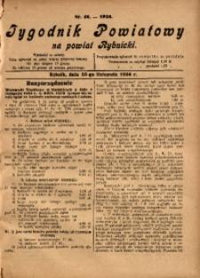Tygodnik Powiatowy na Powiat Rybnicki, 1924, nr 46