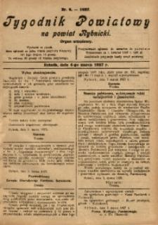 Tygodnik Powiatowy na Powiat Rybnicki, 1927, nr 9