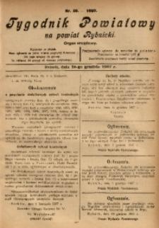 Tygodnik Powiatowy na Powiat Rybnicki, 1927, nr 50