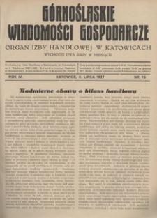Górnośląskie Wiadomości Gospodarcze, 1927, R. 4, nr 13