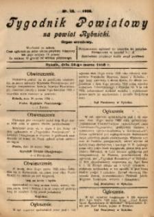 Tygodnik Powiatowy na Powiat Rybnicki, 1928, nr 12