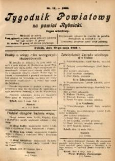 Tygodnik Powiatowy na Powiat Rybnicki, 1928, nr 19