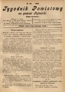 Tygodnik Powiatowy na Powiat Rybnicki, 1928, nr 32