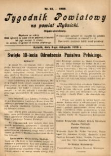 Tygodnik Powiatowy na Powiat Rybnicki, 1928, nr 44