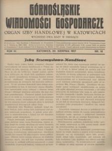Górnośląskie Wiadomości Gospodarcze, 1927, R. 4, nr 16