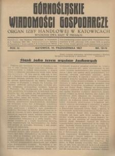 Górnośląskie Wiadomości Gospodarcze, 1927, R. 4, nr 18/19