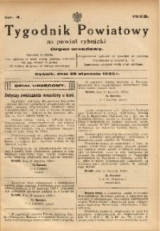 Tygodnik Powiatowy na Powiat Rybnicki, 1933, nr 4