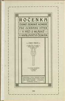 Uwagi o projekcie ustawy o wychowaniu młodziezy zagrożonej - Praga, 1910 r.
