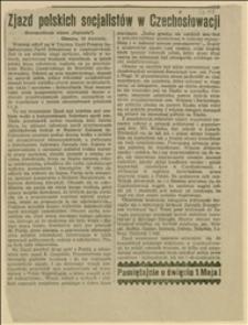 """Zjazd polskich socjalistów w Czechosłowacji. Korespondencja własna """"Naprzodu"""""""