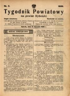 Tygodnik Powiatowy na Powiat Rybnicki, 1935, nr 2