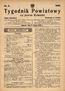 Tygodnik Powiatowy na Powiat Rybnicki, 1935, nr 6