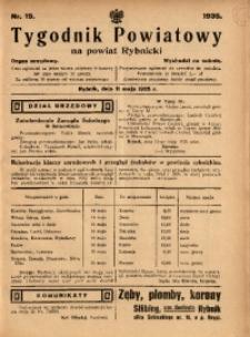 Tygodnik Powiatowy na Powiat Rybnicki, 1935, nr 19