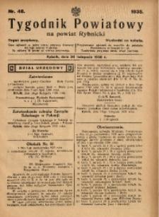 Tygodnik Powiatowy na Powiat Rybnicki, 1935, nr 48