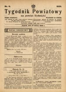 Tygodnik Powiatowy na Powiat Rybnicki, 1936, nr 11