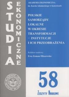 Polskie samorządy lokalne w okresie transformacji - instytucje i ich przeobrażenia