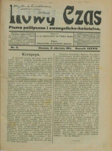 Nowy Czas, 1914, Nry 2-3, 5-29, 32-37, 39, 41-43, 45-49, 51-52