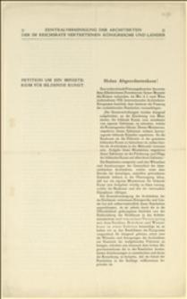 Petycja z tekstem rezolucji 8. Międzynarodowego Kongresu Architektów w sprawie popierania sztuki budowlanej i architektów