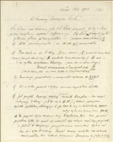 List Juliana Smulikowskiego ze Lwowa do T. Regera w sprawie żądań nauczycieli galicyjskich odnośnie płac - Lwów, 20.05.1912 r.
