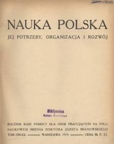 Nauka Polska, 1919, R. 2