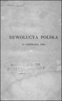 Rewolucya polska 29 listopada 1830