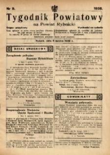 Tygodnik Powiatowy na Powiat Rybnicki, 1938, nr 9