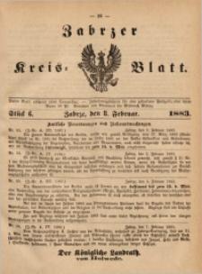 Zabrzer Kreis-Blatt, 1883, St. 6