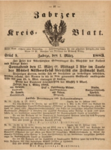 Zabrzer Kreis-Blatt, 1883, St. 9